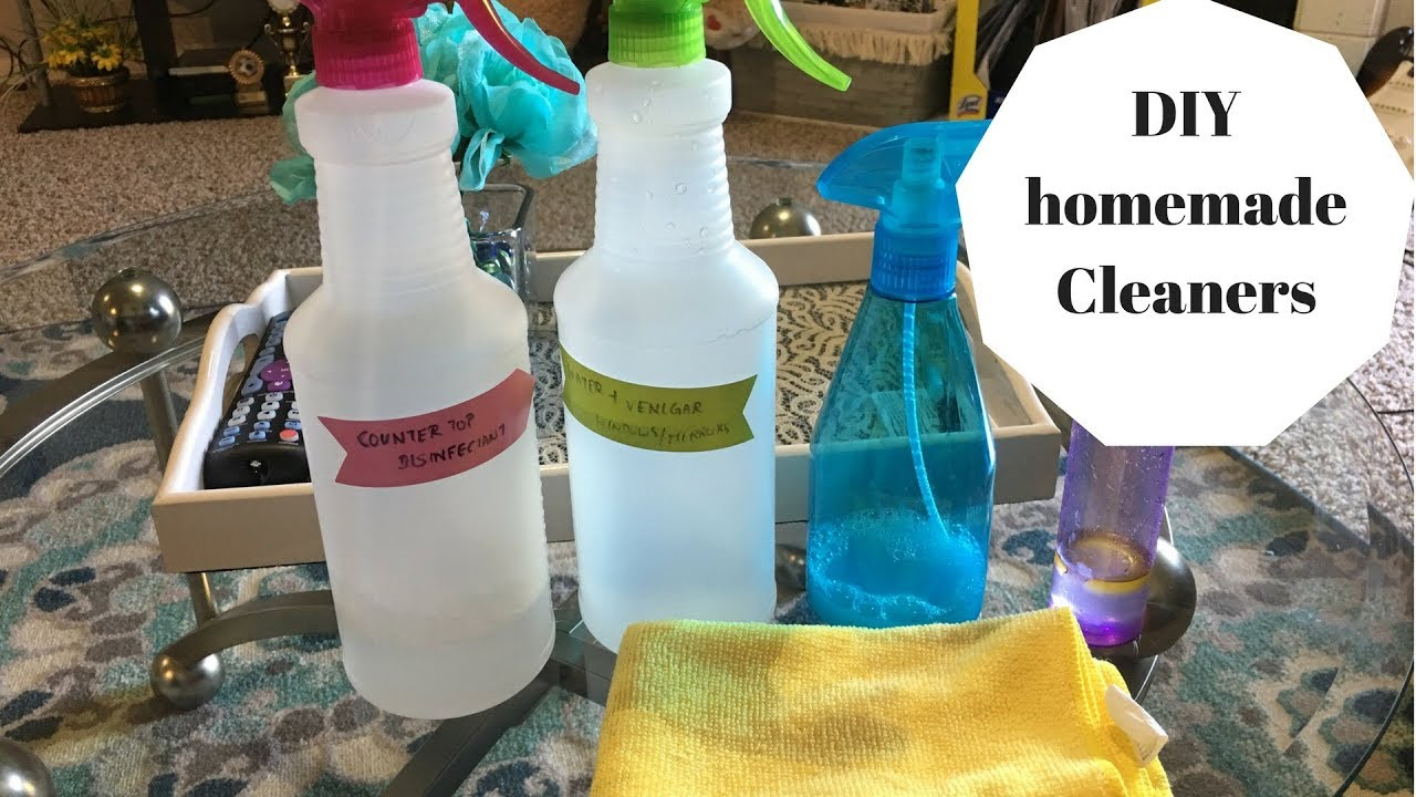 Homemade Cleaners using Venigar, Dawn, Rubbing alcohol for Kitchen, Windows,Bathroom Cleaner