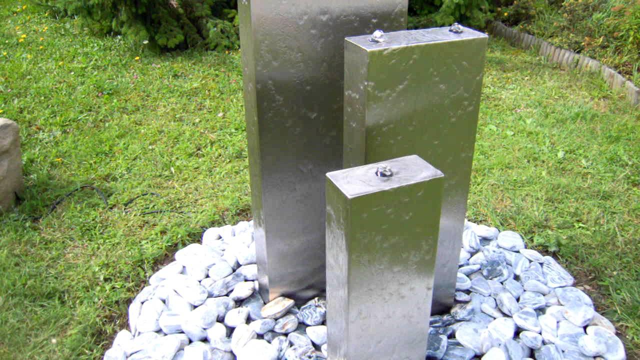 gartenbrunnen edelstahl bochum - youtube, Garten und Bauen