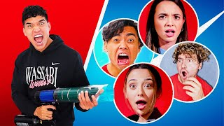 Surprising YouTubers w/ a HOODIE CANNON!