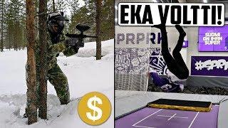 Paintballia lumihangessa ja TEIN EKAN VOLTIN KOSKAAN! :)