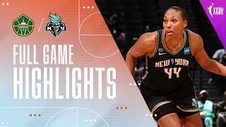 NEW YORK LIBERTY vs. SEATTLE STORM | FULL GAME HIGHLIGHTS (August 18, 2021)
