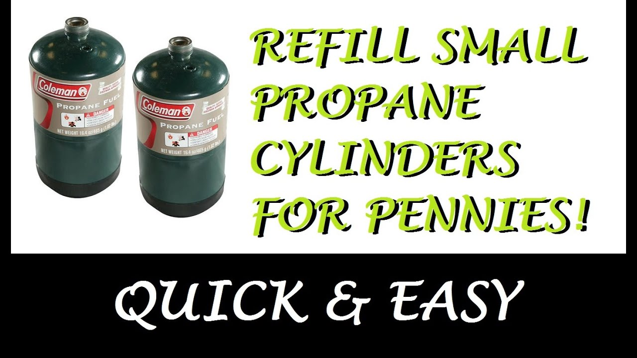 Refill Small Propane Cylinders Save Lpg Tank Bottle Youtube