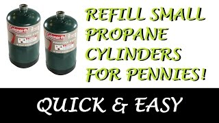 Refill small propane cylinders Save $$ LPG Tank Bottle