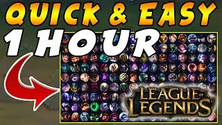Fast & Easy  Learn Any League Of Legends Champion Done Quick Guide