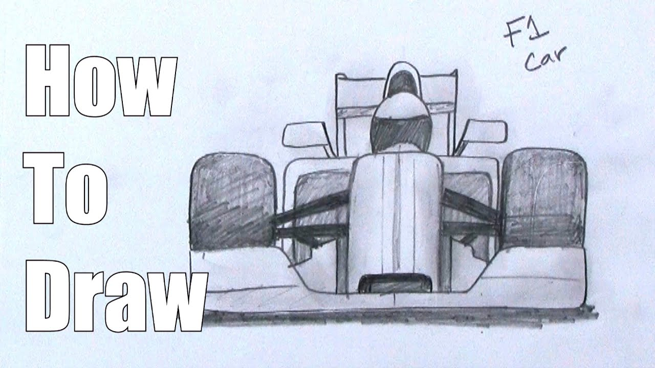 How To Draw An Car Formula One Race Car Youtube