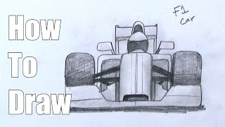How To Draw an F1 car - Formula One Race Car