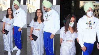 Neha Kakkar Wid Hubby Rohanpreet Leaving For HONEYMOON Looking So Gorgeous In Sindoor & Mangalsutra