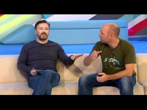 Ricky Gevais Karl Pilkington Interview T4 2012