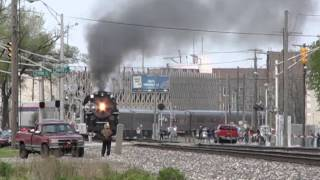 Nickel Plate 765 steams through Hammond, IN