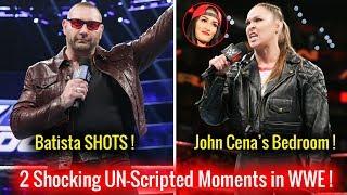 2 SHOCKING Un-Scripted Moments in WWE ! Batista Returns ! Ronda Rousey Says John Cena Bedroom !
