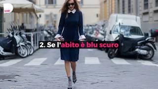 Quale colore di scarpe abbinare a un vestito nero o blu?