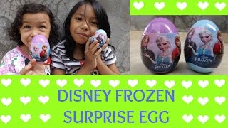 MAINAN ANAK ♥ DISNEY FROZEN SURPRISE EGG TOY ELSA ANNA FROZEN FEVER |  English Subtitles