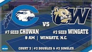 2018 NCAA D2 Tennis Tournament - Southeast Region 2 - #7 Chowan vs #2 Wingate (Court 2)