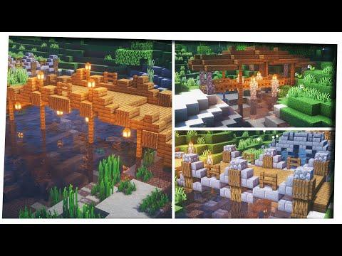 Minecraft - 5 Simple Bridge designs Inspiration & Tips! [Bridge decoration ideas]