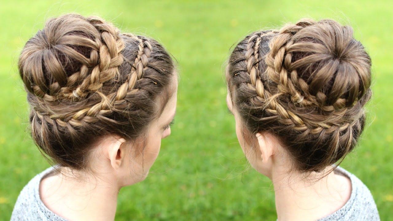 Braided fishtail hairstyles: double crown braid tutorial rare photo