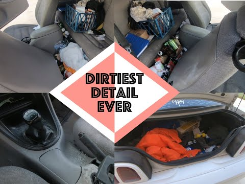Detailing the Dirtiest Car Interior Ever | DEEP CLEANING a Ford Mustang | Daniel's Garage