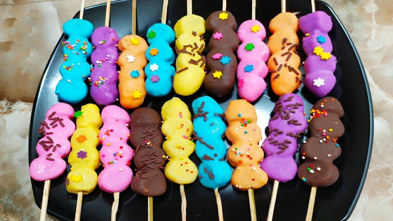 Lucu Lucu Ya Es Pisang Coklat Warna Warni Bikin Anak Anak Antri Beli Peluang Bisnis Lagi Nih Youtube