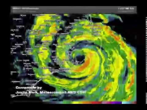 Hurricane Arthur crossing NC radar loop