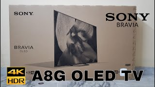SONY A8G AG8 55 quot OLED Android TV Unboxing Hindi Indian Unit - Dekho Unboxing amp Review