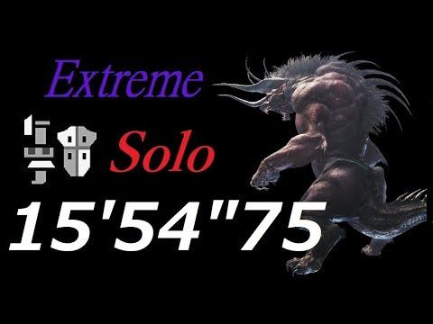 【MHW】極ベヒーモス 15′54″75 ソロ ガンランス \ Extreme Behemoth Gunlance Solo