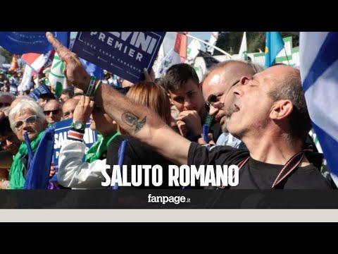 Lega Nord, saluto romano al raduno di Pontida, scoppia il caos