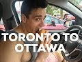 DRIVING FROM TORONTO TO OTTAWA - FULL DAY OF EATING - WENDYS REVIEW