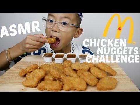 ASMR McDonald's Chicken Nuggets Challenge (AuzSOME Austin) Eating Sounds  N.E Let's Eat
