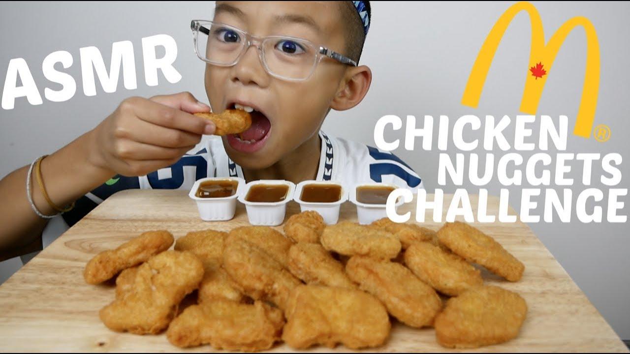 Asmr Mcdonalds Chicken Nuggets Challenge Auzsome Austin Eating Sounds N E Lets Eat
