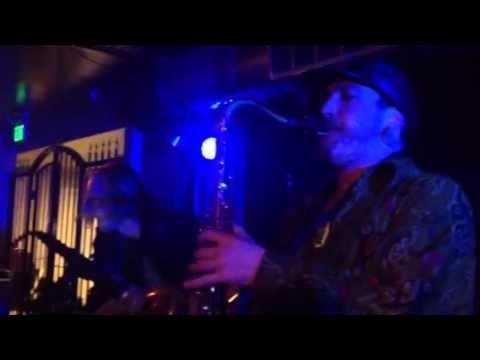 Chris Noonan (Tenor Sax) of AfroMassive sitting in with Thriftworks