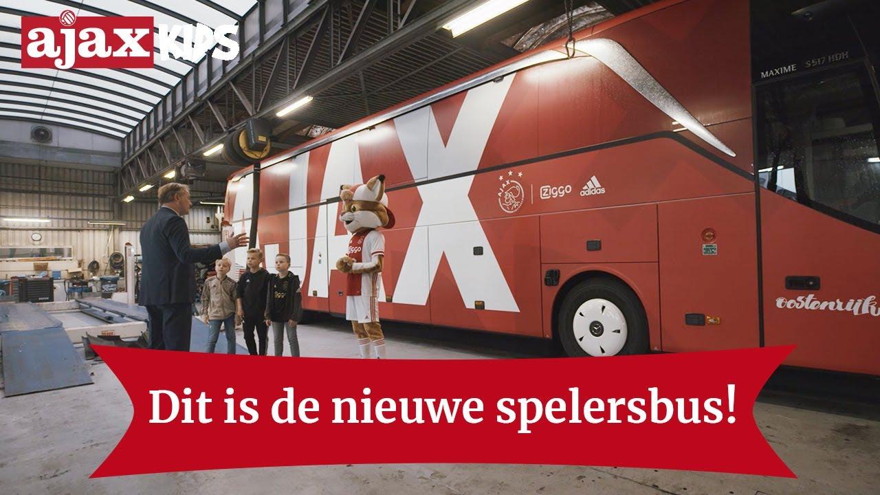 dit is de nieuwe spelersbus van ajax