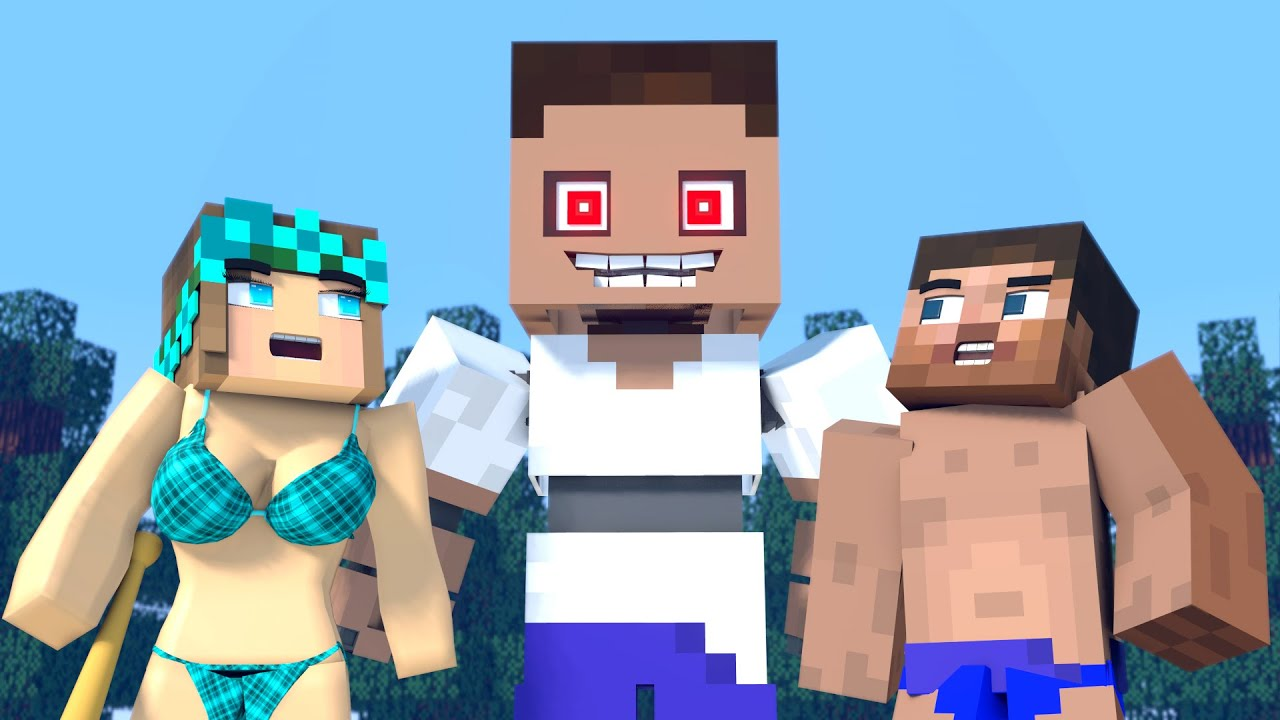 The minecraft life of Steve and Alex | Animatronic  | Minecraft animation
