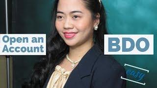 How to Open a BDO Bank Account