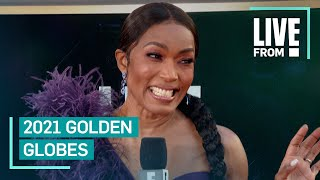 Angela Bassett Remembers Chadwick Boseman at 2021 Golden Globes | E! Red Carpet & Award Shows