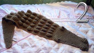 Как связать детский шарф Крокодильчик (Крокодил) спицами
