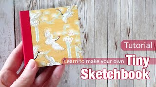 PERFECT BOUND MINI SKETCHBOOKS DIY - MAKE YOUR OWN USING SIMPLE MATERIALS