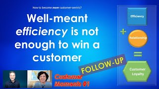 Customer Moments # 1 - Well-meant efficiency is not enough to win a customer - FOLLOW-UP