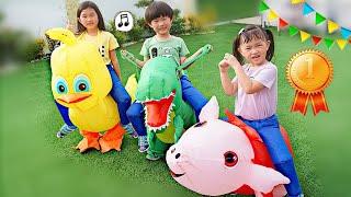 挑戰運動會!裝扮動物比賽跑?~Olympic challenge!Sport Fun For Kids~
