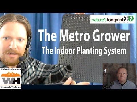 Indoor Winter Gardening With The Metro Grower From Nature's Footprint #WormFactory