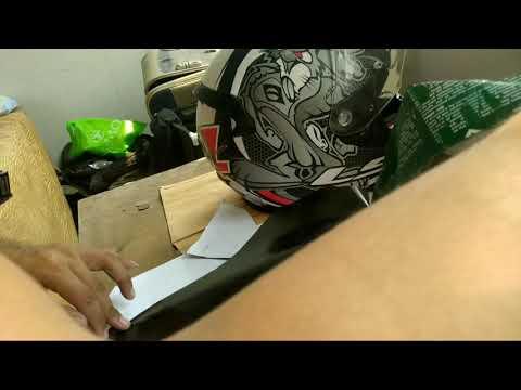 D.I.Y Work   How to make helmet spoiler In LS2 Helmet