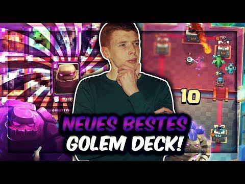 NEUES BESTES GOLEM DECK! | Kanonenkarre Macht Beatdown OP! | Clash Royale Deutsch