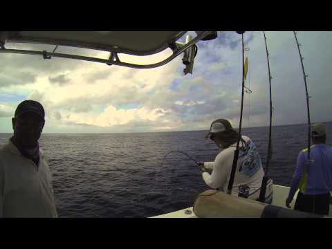 Fishing alongside the commercial boats for Yellowfin Tuna in Panama
