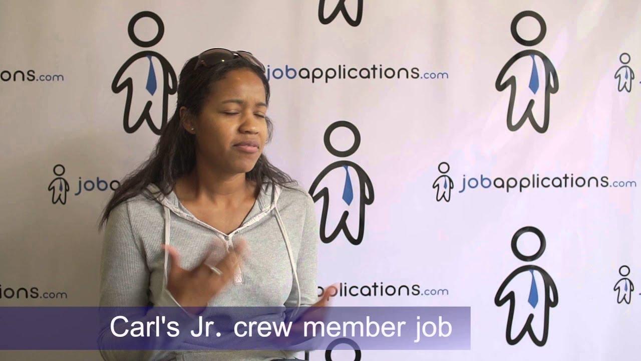 carl s jr interview crew member