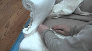 How To Reupholster A Wing Chair Pt 15