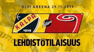 Lehdistötilaisuus, KalPa - JYP, 29.11.2019