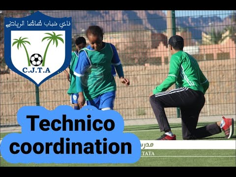 Exercice de techno coordination U14.ecole de football tata ...