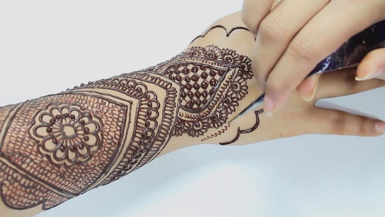 Mehndi Equals Henna : Full bridal arabian mehndi henna trendy and stylish design heavy