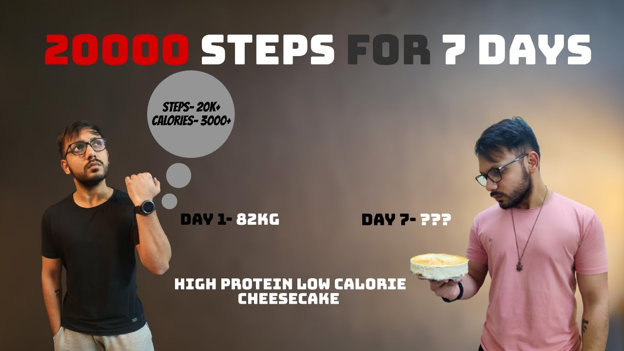 I walked 20000 steps a day for 7 days || Protein Cheesecake || Joanna Soh 10k Indoor Step Challenge