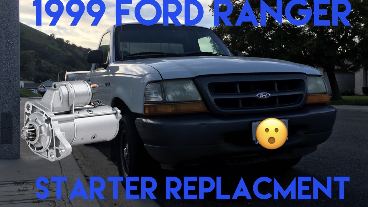 small resolution of 1999 ford ranger 2 5l starter replacement