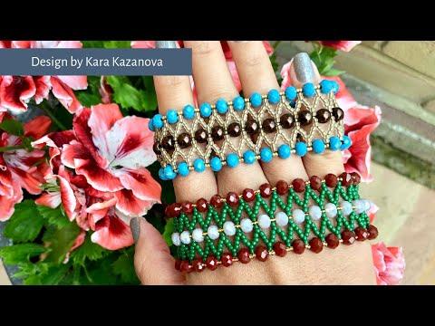 Double Aurora bracelet tutorial | Bead Weaving | Beaded Bracelet