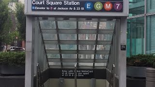 MTA New York City Subway: R188, R68/A & R160 (7) (E) (G) (M) Trains @ Court Square-23rd Street